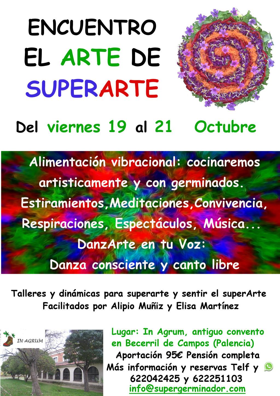 Encuentro de SuperArte en Becerril del 19 al 21 de octubre