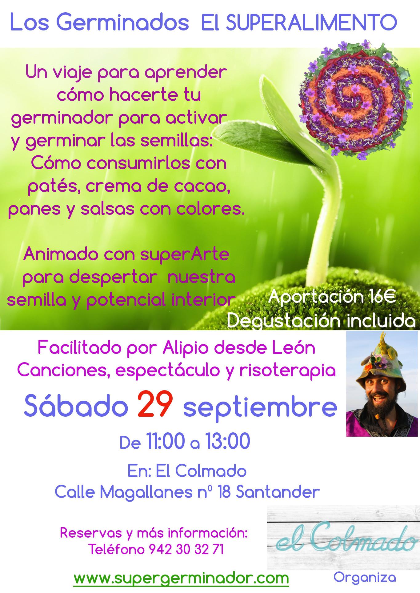 Los Germinados El superalimento en El Colmado Santander 29 de Septiembre y 3 de Octubre